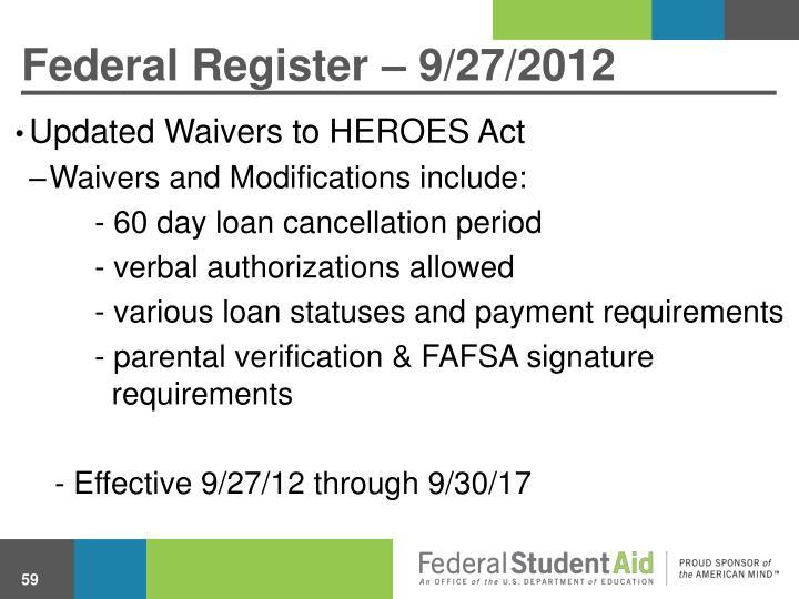 Federal Register – 9/27/2012