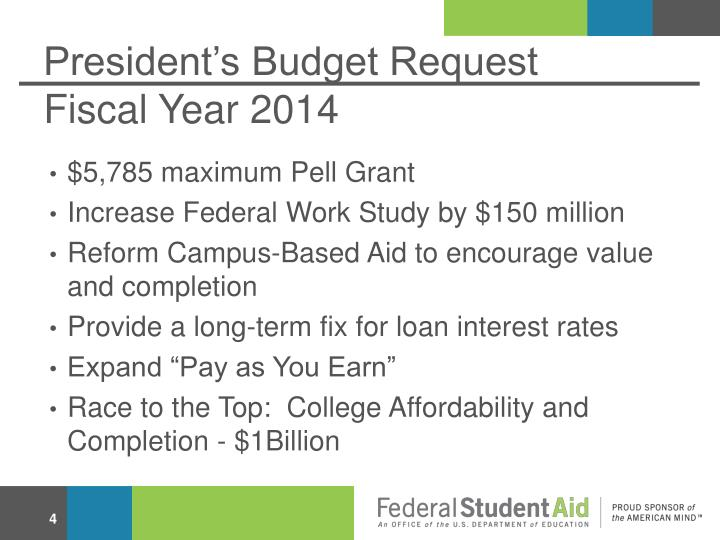 President's Budget Request