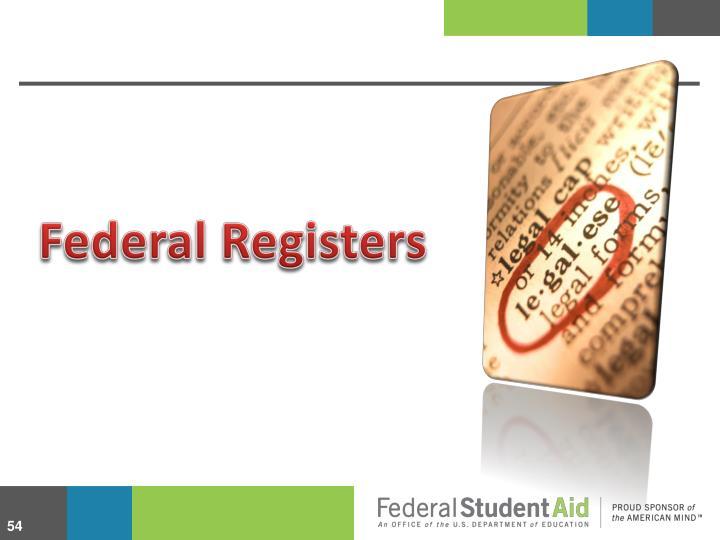Federal Registers