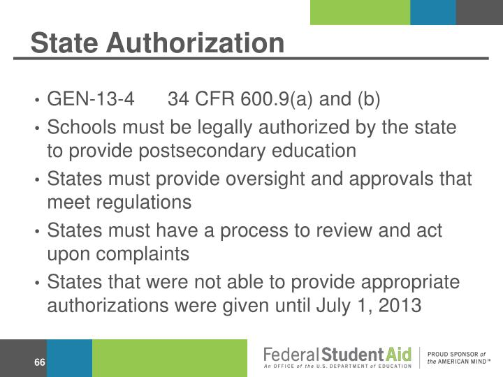 State Authorization
