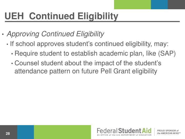 UEH  Continued Eligibility