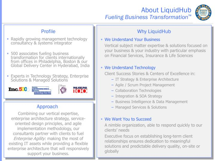 About liquidhub fueling business transformation