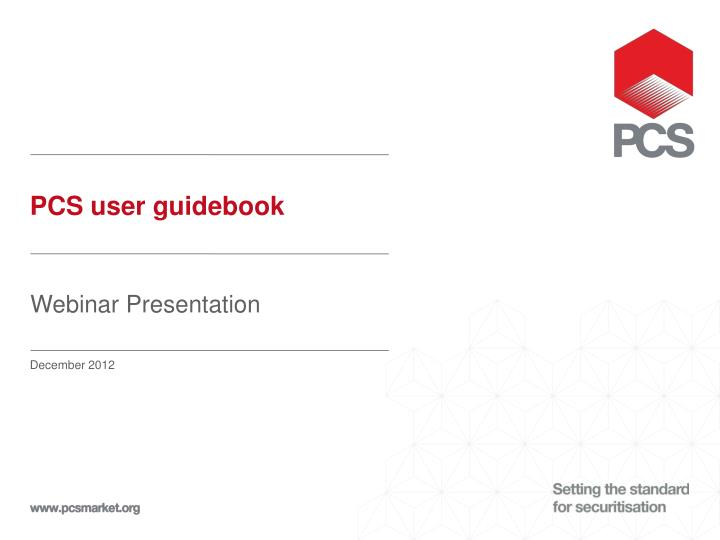 Pcs user guidebook