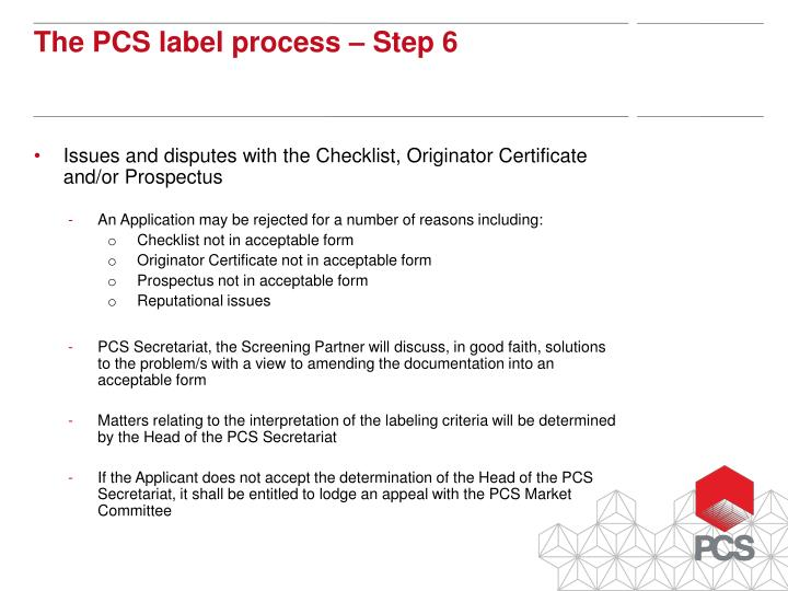 Issues and disputes with the Checklist, Originator Certificate and/or Prospectus