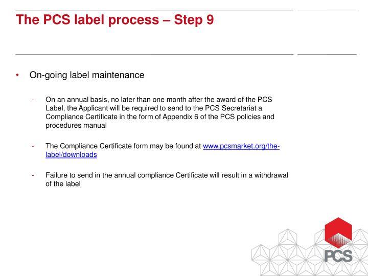 On-going label maintenance