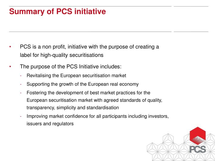 PCS is a non profit, initiative with the purpose of creating a 	label for high-quality