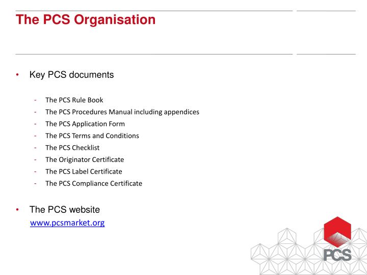 Key PCS documents