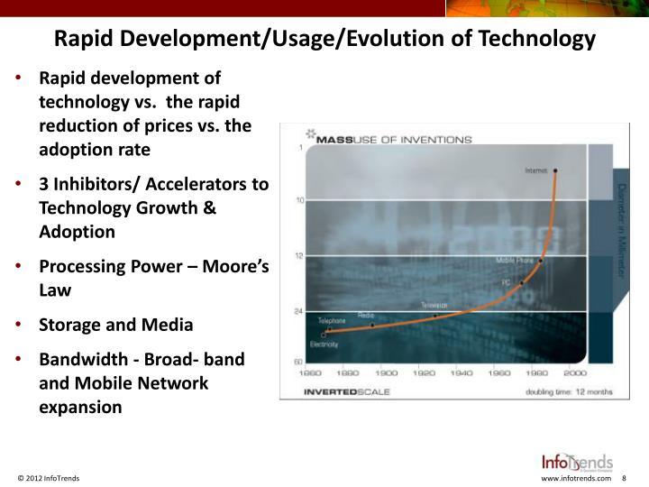 Rapid Development/Usage/Evolution of Technology