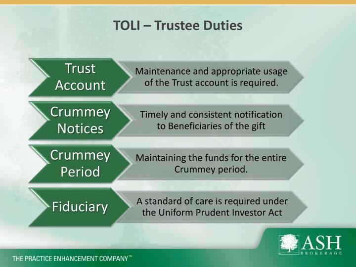 TOLI – Trustee Duties
