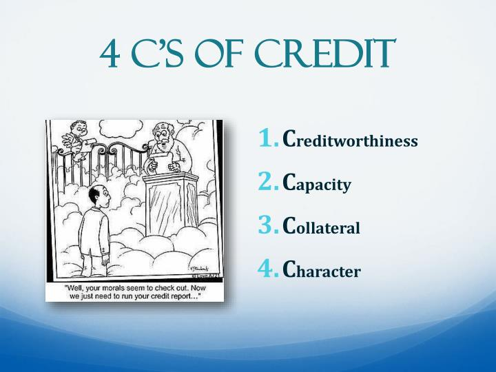 4 C's of Credit