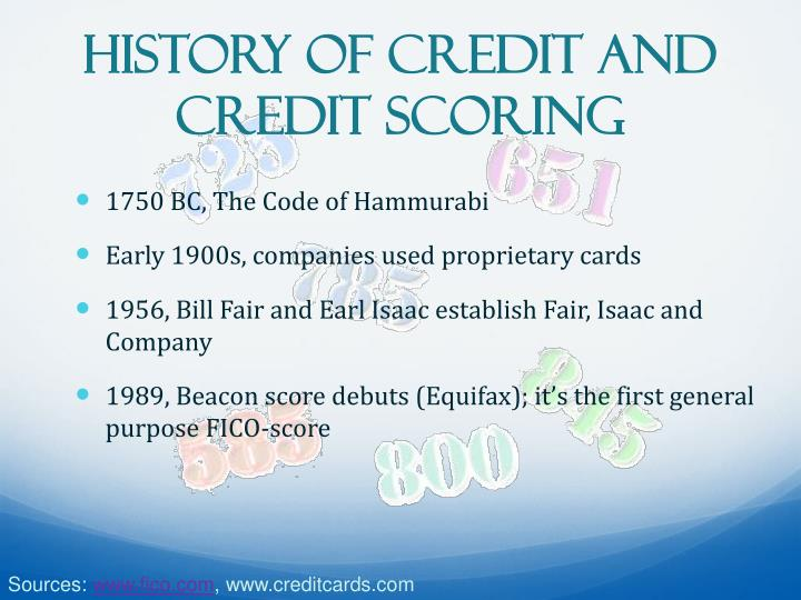History of Credit and