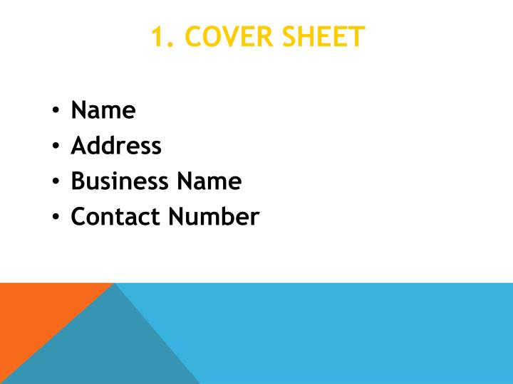 1 cover sheet