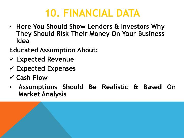 10. Financial data