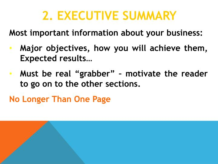 2 executive summary