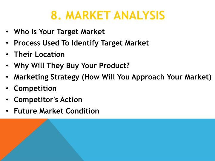 8. Market analysis