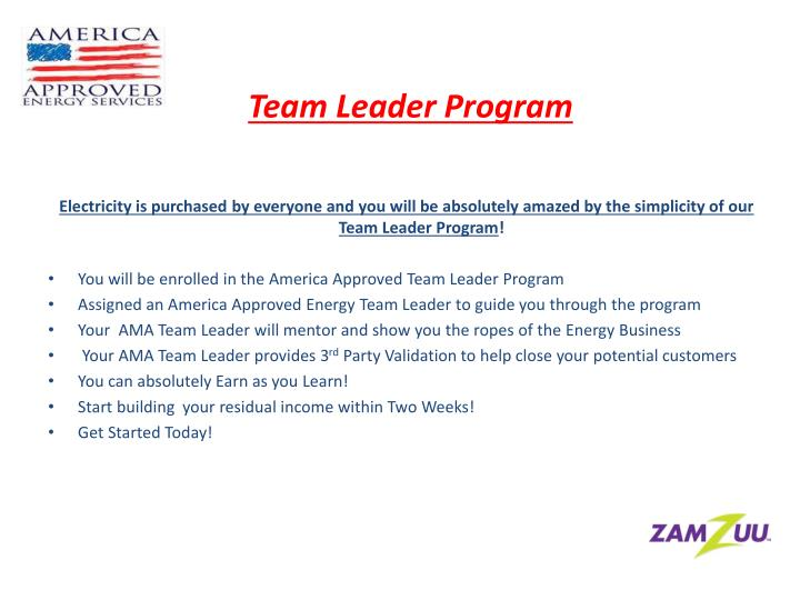 Team Leader Program