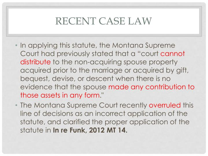 Recent case law