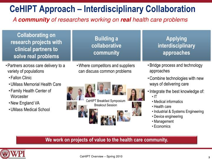 CeHIPT Approach – Interdisciplinary Collaboration