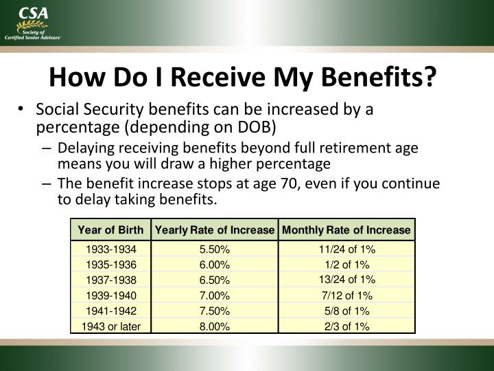 How Do I Receive My Benefits?