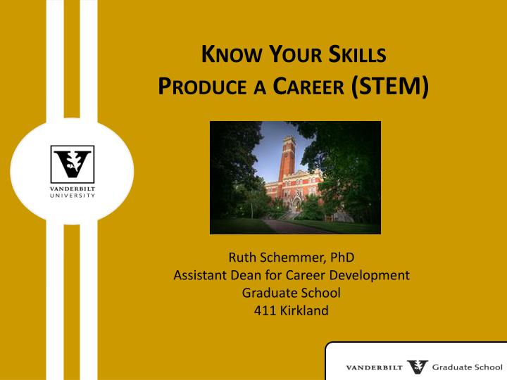 Know your skills produce a career stem