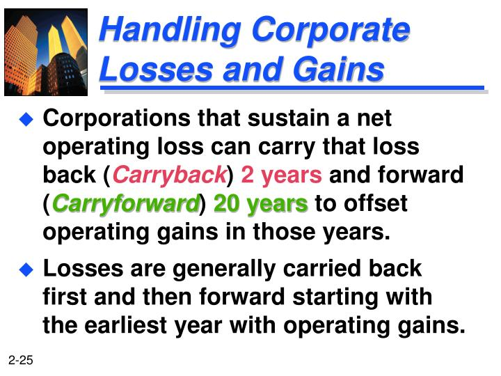 Handling Corporate Losses and Gains