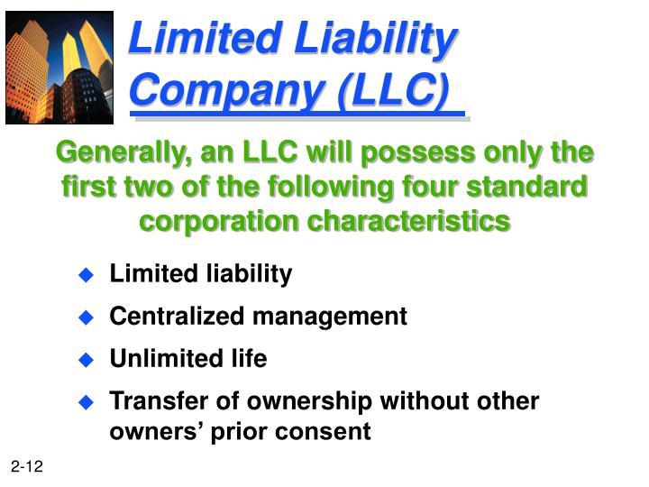 Limited Liability Company (LLC)