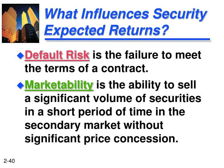 What Influences Security Expected Returns?