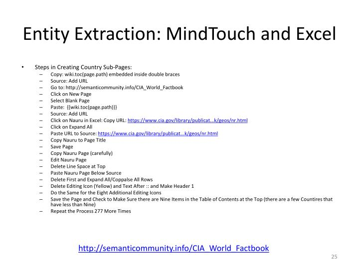 Entity Extraction: