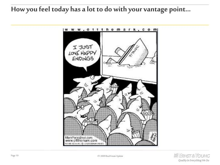 How you feel today has a lot to do with your vantage point…