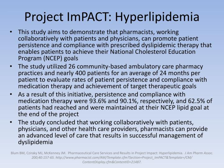 Project ImPACT: Hyperlipidemia