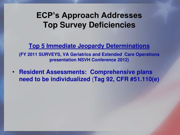 ECP's Approach Addresses