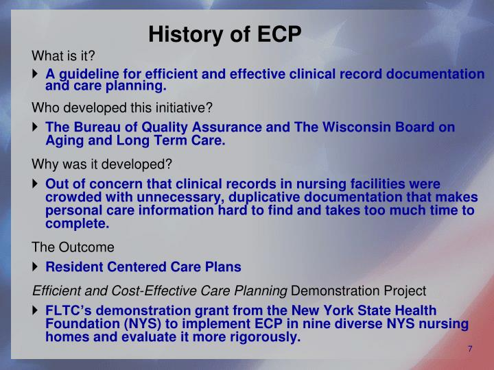 History of ECP
