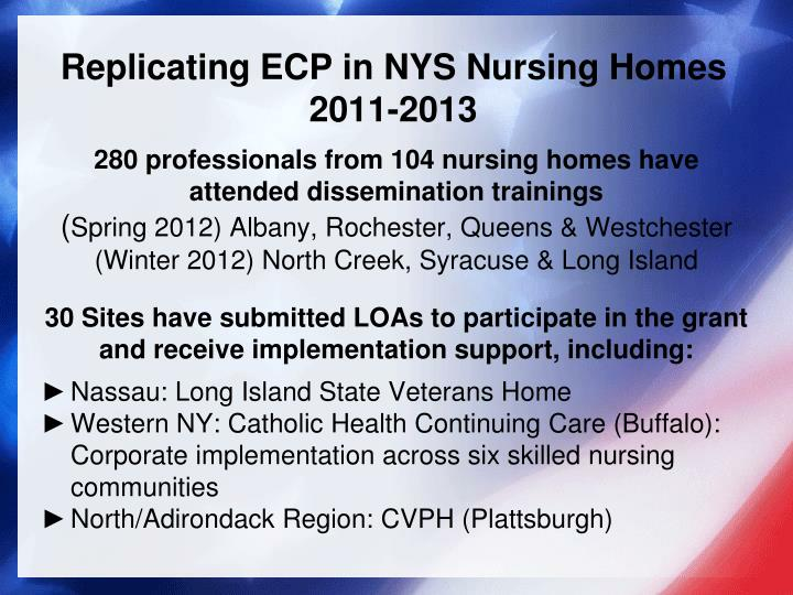 Replicating ECP in NYS Nursing Homes
