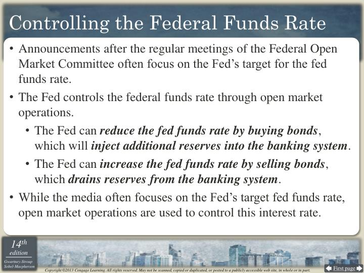 Controlling the Federal Funds Rate