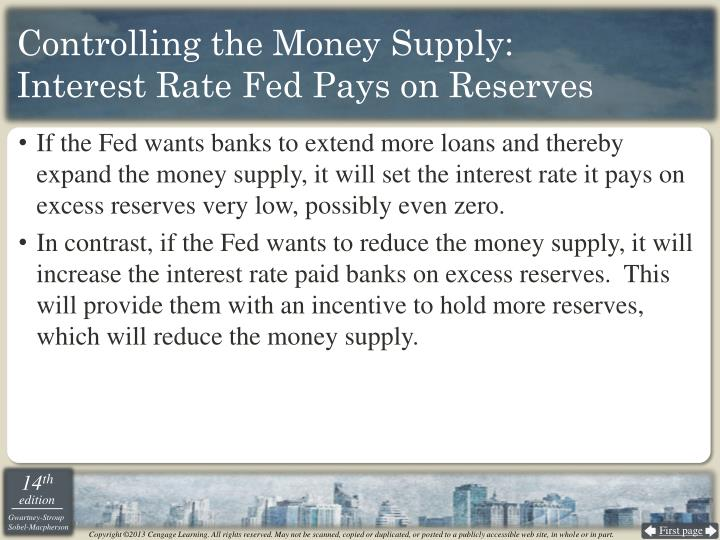 Controlling the Money Supply: