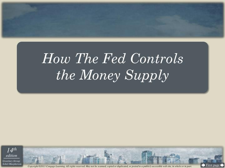 How The Fed Controls