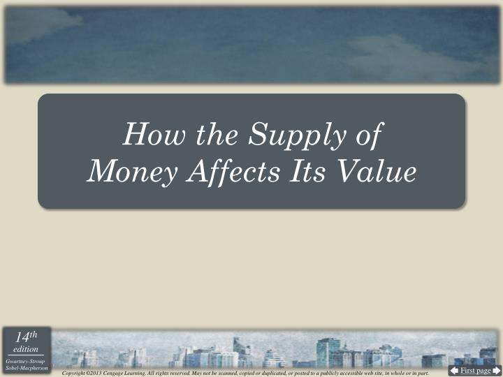 How the Supply of