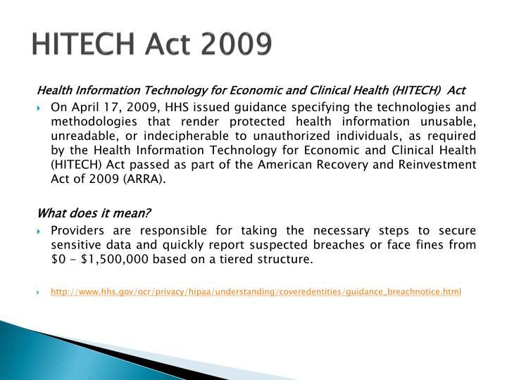 HITECH Act 2009