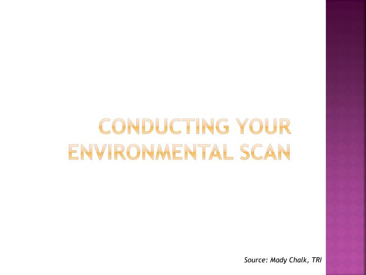 Conducting Your Environmental scan