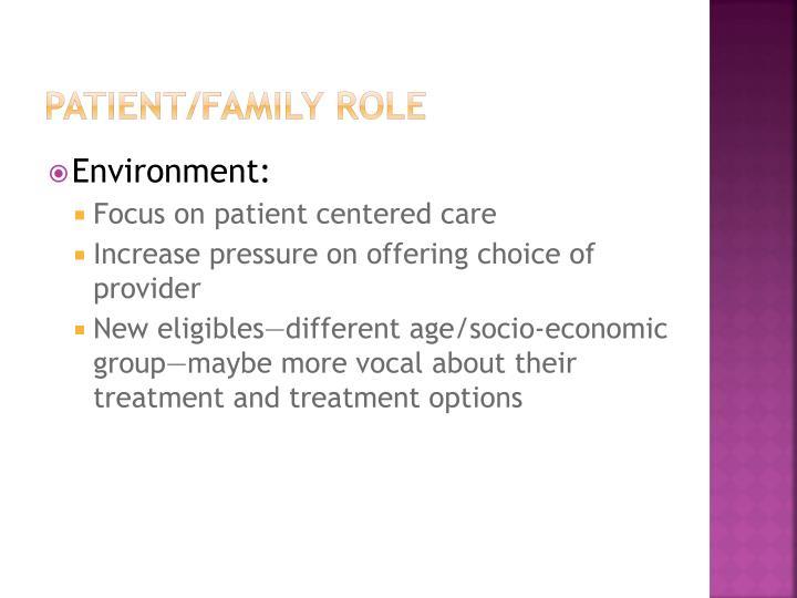 Patient/Family Role