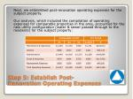 step 5 establish post renovation operating expenses