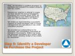 step 9 identify a developer to purchase the project