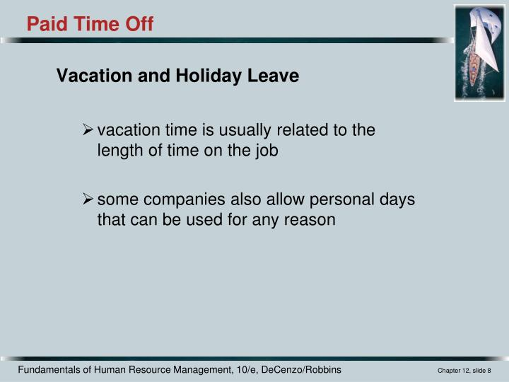 Vacation and Holiday Leave