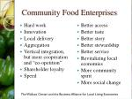 community food enterprises