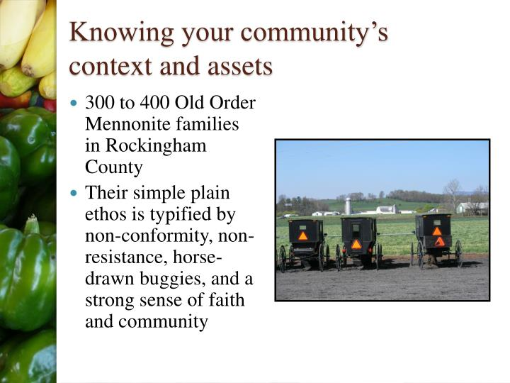 Knowing your community's context and assets