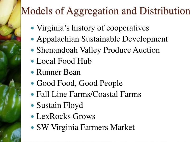 Models of Aggregation and Distribution
