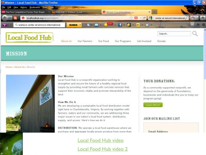 Local Food Hub video