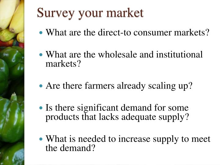 Survey your market
