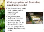 what aggregation and distribution infrastructure exists