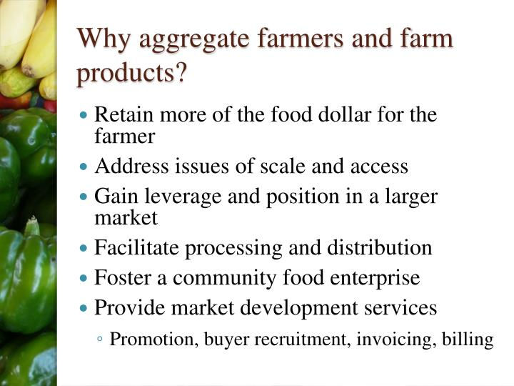 Why aggregate farmers and farm products?